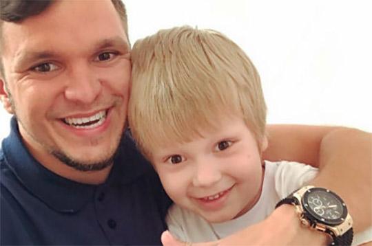 Сын Антона Гусева попал на телевидение