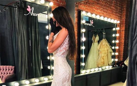 Татьяна Мусульбес выбрала дорогое свадебное платье